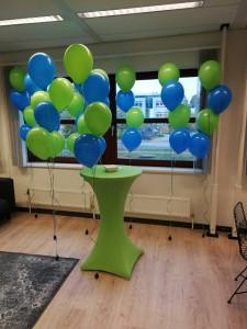 tafelstukje 4 ballonnen